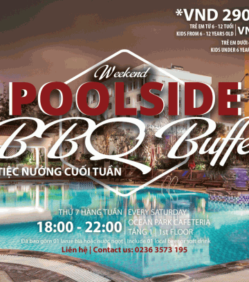Poolside BBQ buffet at DLG hotel Da Nang
